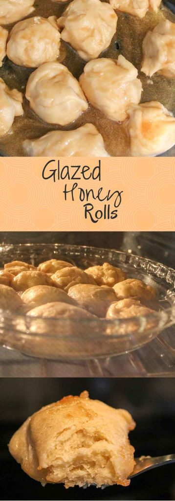 Glazed honey rolls - an extra decadant way to prepare dinner rolls for a sweet treat or special side.