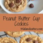 Peanut butter cup cookies - a delicious cookie with mini peanut butter cups baked in! Best served with a tall glass of chocolate milk.