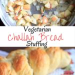 This vegetarian challah bread stuffing will be great at your Thanksgiving table. Cooked on the stovetop to save oven space, added apples for crunch, and garnished with fresh rosemary.