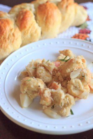 Challah Apple Vegetarian Stuffing