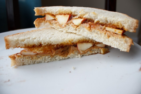 peanut butter sandwich grilled apple peanut butter sandwich cook with ...