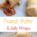 Peanut butter and jelly wraps - Warm toasted crescent rolls put a quick and easy spin on a traditional PB&J sandwich. Fun for all ages!