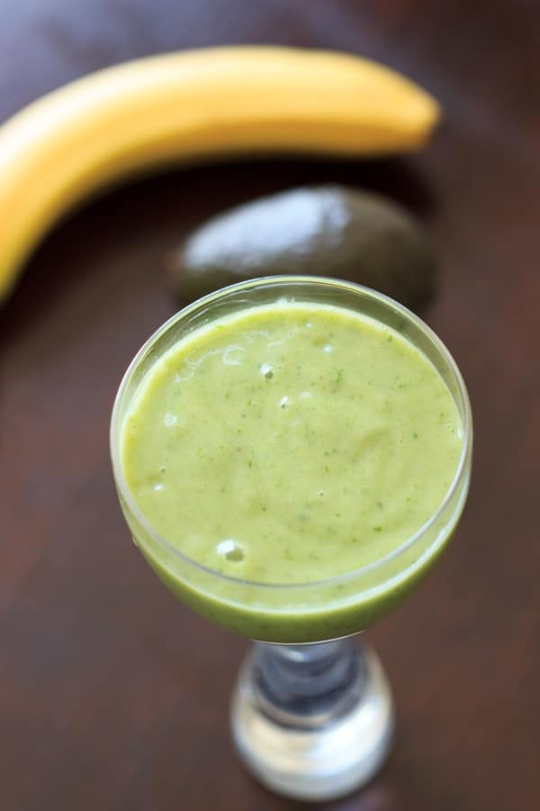 An avocado banana smoothie that is sure to brighten up your day ...