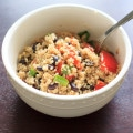 Black bean quinoa salad - another great way to enjoy quinoa in a vegan, gluten-free way. This was a hit for vegetarians and non-vegetarians alike! | trialandeater.com