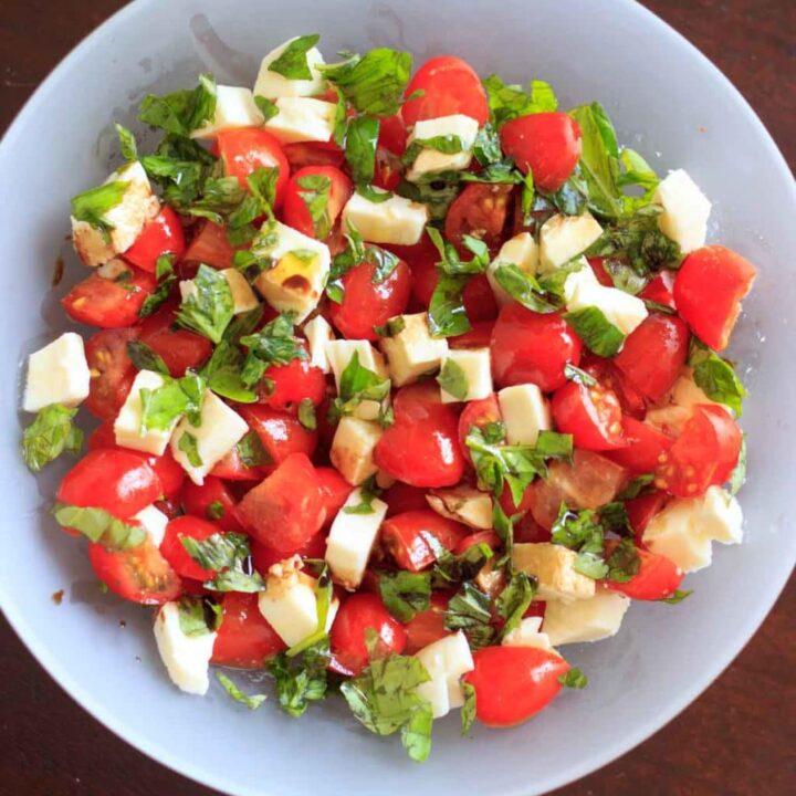 Caprese Salad In A Bowl Recipe