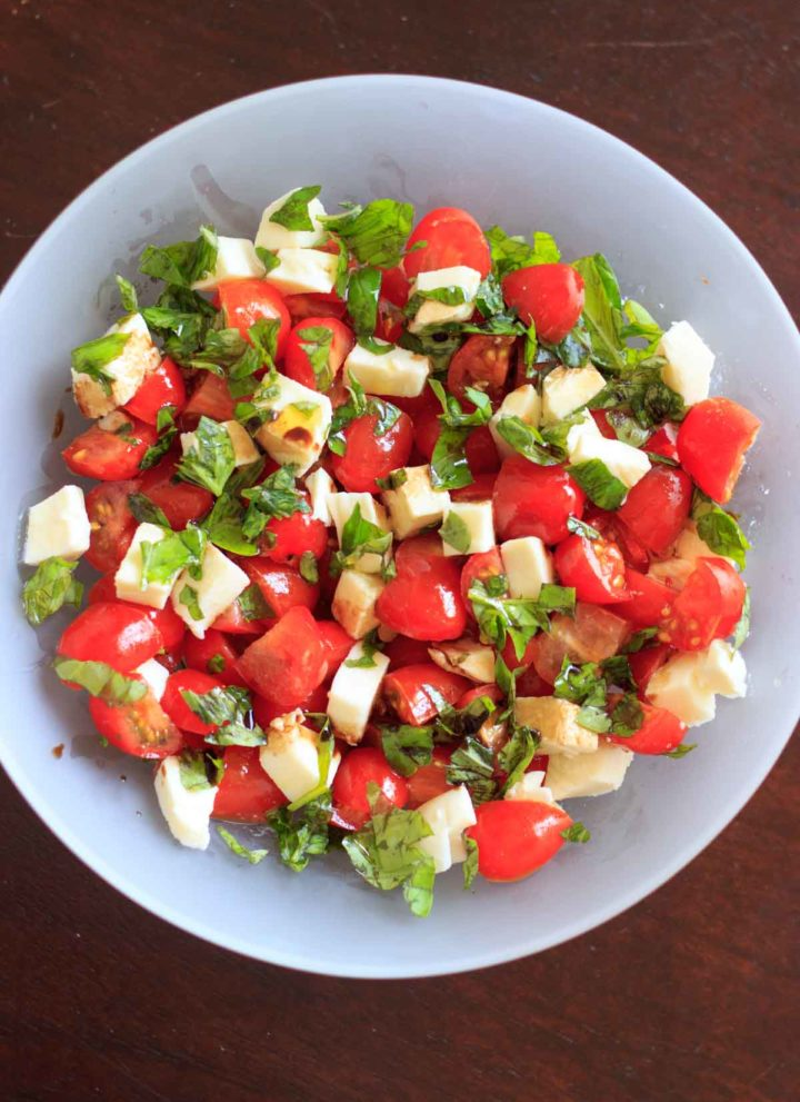 Chopped Caprese salad