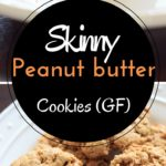 Skinny peanut butter cookies (gluten-free). 5 ingredients, bake in about 10 minutes. Super easy and delicious, you won't even miss the flour!
