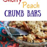 Cherry peach crumb bars - perfectly balanced with just the right amount of fruit and just the right amount of crust! Summertime fruit dessert that will surely be a crowd pleaser.