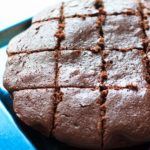 Skinny chocolate brownies made with applesauce and Greek yogurt that are almost cupcake-like in texture. These yummy, healthy (or at least healthier), easy brownies make for a great guilt-free dessert.   trialandeater.com