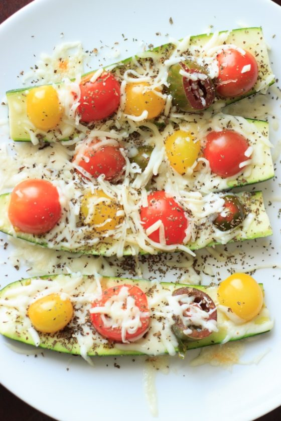 Quick and easy zucchini boats