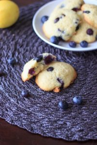 Lemon blueberry cookies - fresh blueberries and a light lemon flavor in a cookie that tastes like a muffin top! @trialandeater