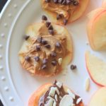 Apple cookies are a fun way to get your apple a day! Load up slices of apple with your favorite toppings for a sweet, satisfying, guilt-free snack!