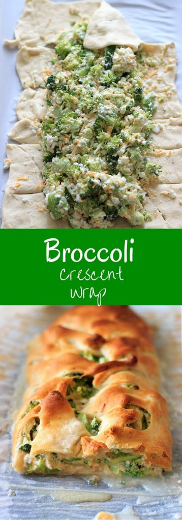 Broccoli and cheese goodness all wrapped up in crescent roll dough. Easy, quick vegetarian dinner, made healthy by swapping out the mayonnaise!
