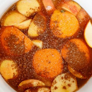 Homemade Apple Cider in the Crockpot