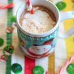 Peppermint eggnog hot chocolate using homemade (cooked) eggnog. Perfect holiday drink!