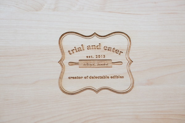 Trial and Eater custom cutting board