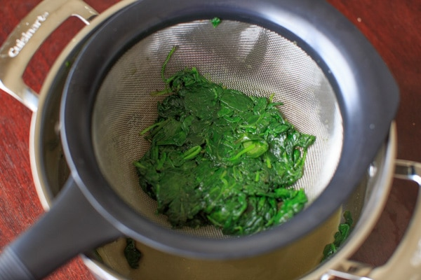 How to substitute fresh spinach in place of frozen! Or, a simple way to saute spinach for a tasty side dish.