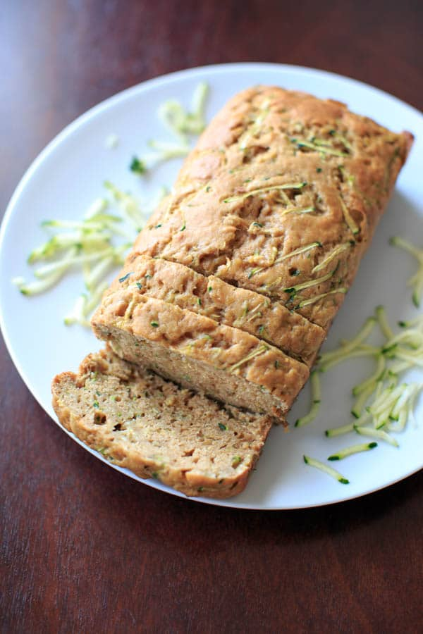 Skinnier Zucchini Bread - made with applesauce and less sugar so you don't feel as much guilt for that second or third slice.