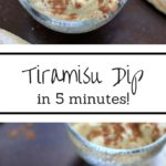 Tiramisu Dip. For those times you're feeling fancy but only have 5 minutes. Quick & easy fix for tiramisu lovers!