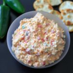 Skinny Jalapeno Pimento Cheese - a spicier, healthier take on the southern favorite. No mayonnaise!