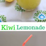 Homemade Kiwi Lemonade - freshly squeezed lemonade with a twist of kiwi fruit!