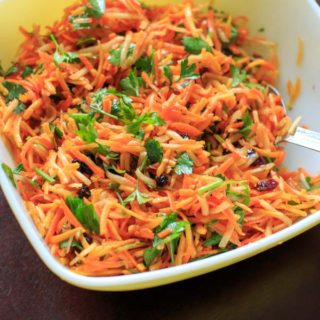 Multicolored Shredded Carrot Salad