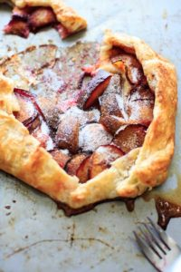 Puff Pastry Plum Galette - deliciously simple dessert that takes only minutes to throw together.