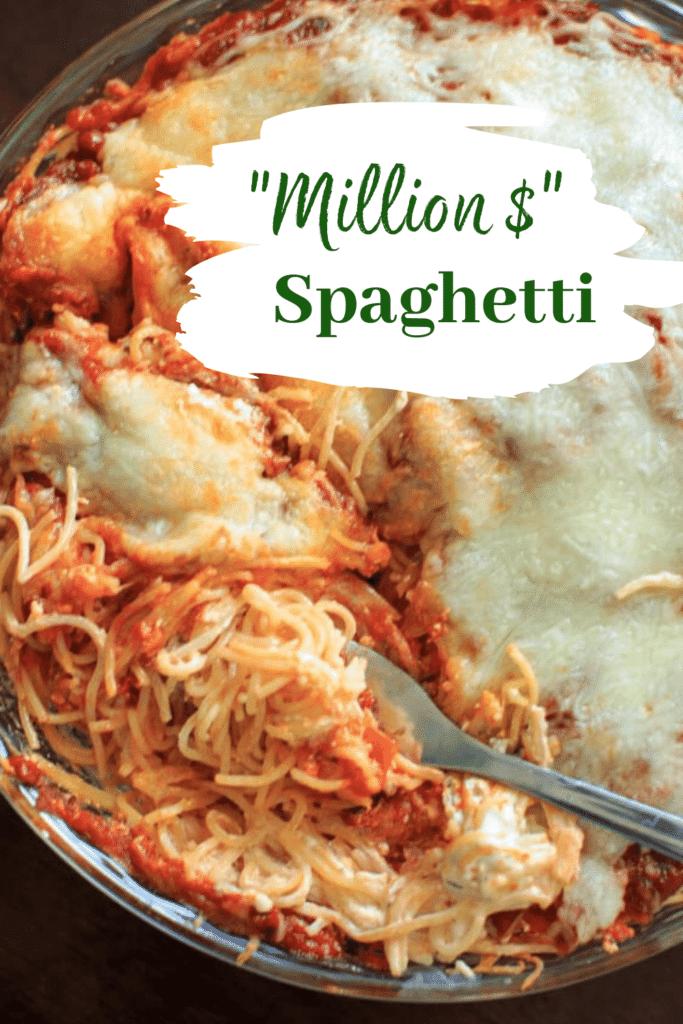 Meatless Million Dollar Spaghetti Casserole