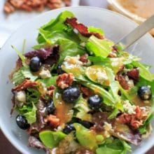 Italian Blue Salad with Apricot Dressing