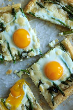 Asparagus Tart with Egg and Goat Cheese
