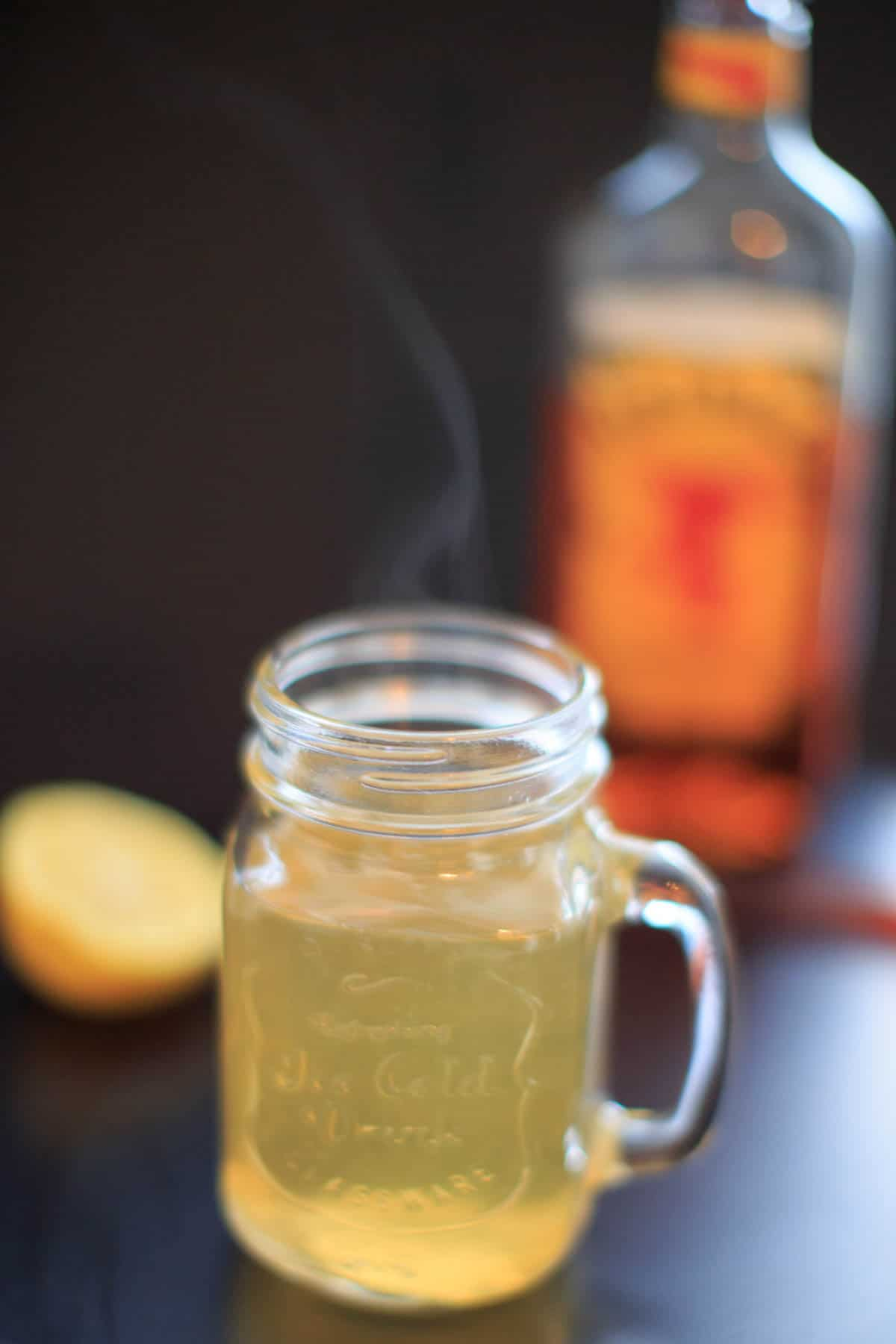 Fireball Hot Toddy - cinnamon whiskey, honey and lemon drink to melt your sickness away