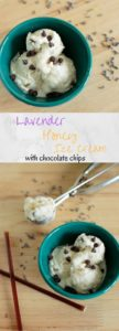 Lavender Honey Ice Cream with Chocolate Chips - The perfect unique ice cream flavor for that will have everyone asking for more.