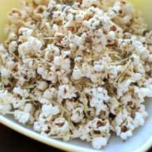 Movie Night Pizza Popcorn