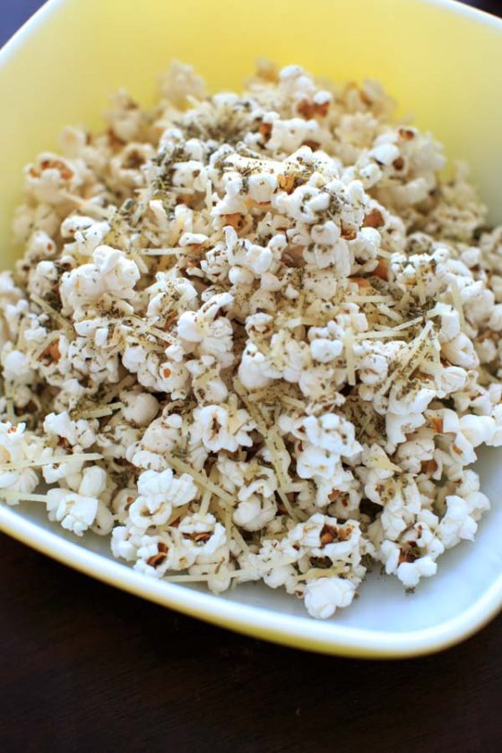 Movie Night Pizza Popcorn