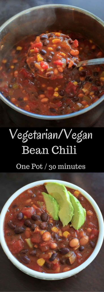 Vegetarian chili that's also vegan friendly and gluten-free. This one ...