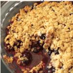 vegan and gluten-free blueberry crisp pinterest pin
