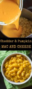 Cheddar Pumpkin Mac and Cheese is an easy and delicious autumn meal. Option to serve as stovetop macaroni or turn into a crunchy casserole.