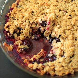 Coconut Oil Blueberry Crisp Crumble