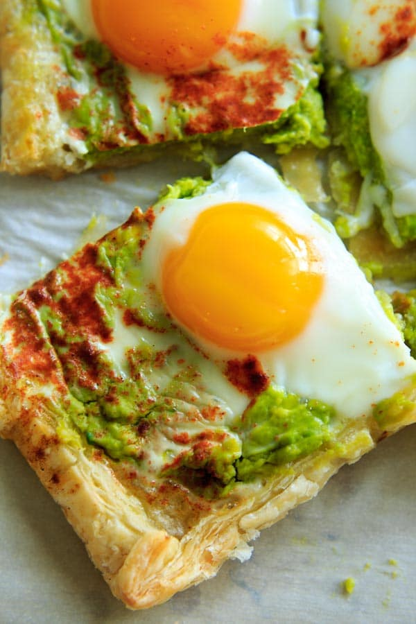 Egg Puff Pastry with Avocado Base
