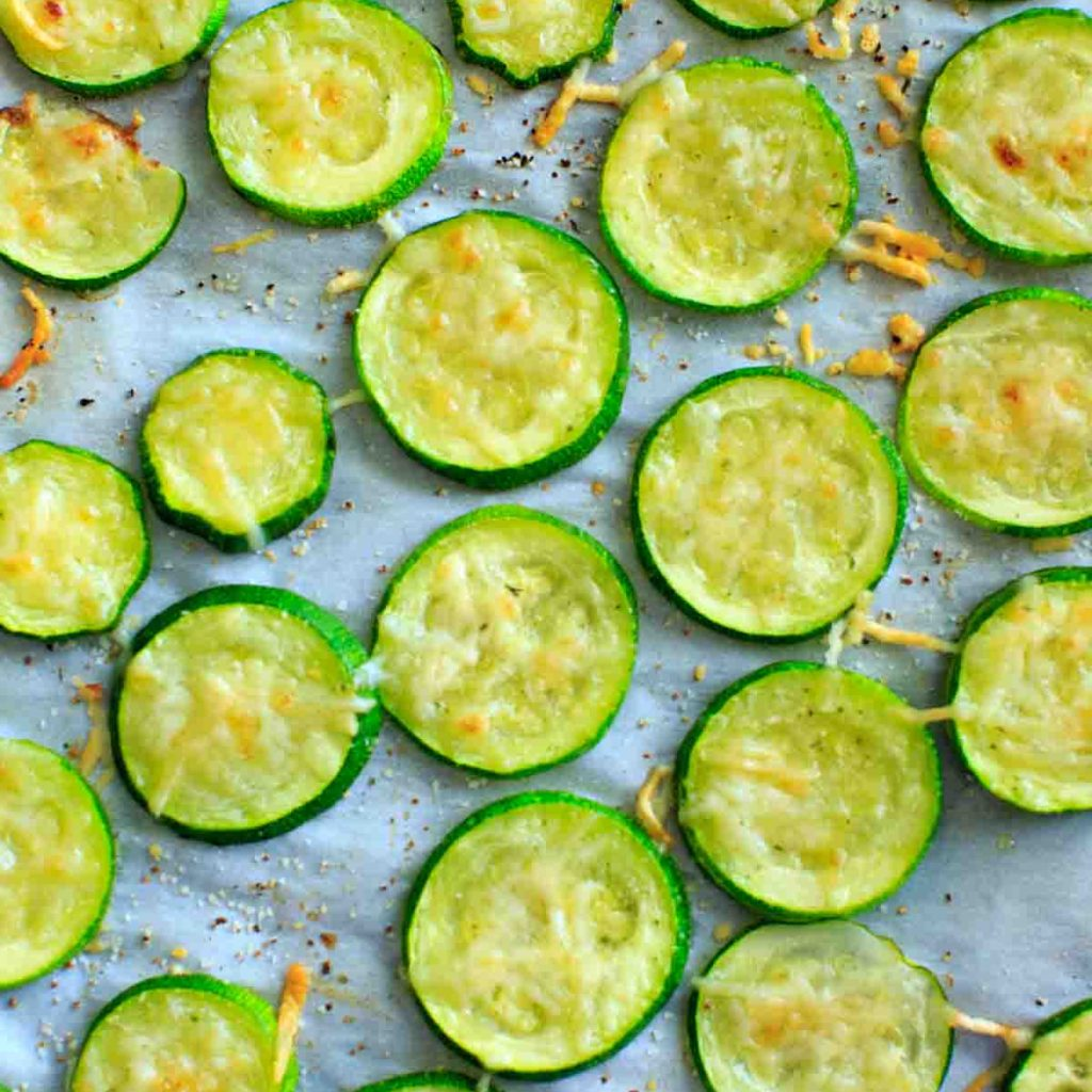 Baked Parmesan Zucchini Chips - a healthy and flavorful snack that is a great way to get more veggies on your plate.