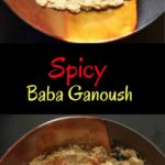 Spicy Baba Ganoush (Eggplant Dip) - with red pepper and sriracha, this appetizer is for you spicy food lovers!
