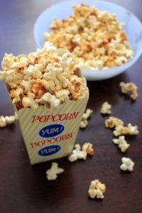 Sweet and salty kettle corn. A highly addictive, easy snack that takes 5 minutes and 4 ingredients!