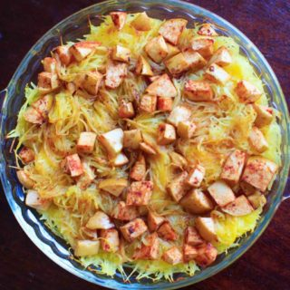 Maple Apple Spaghetti Squash Bake
