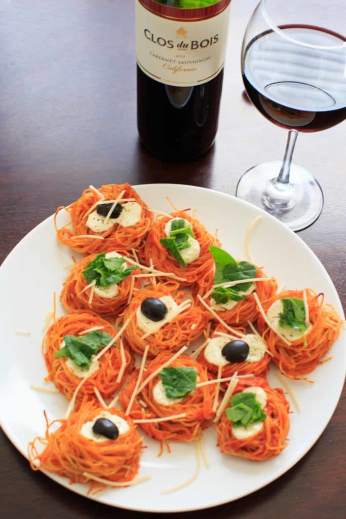 Simple Baked Spaghetti Nests - Barilla Angel Hair Pasta paired with ...