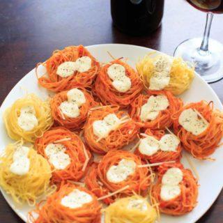 Baked Spaghetti Nests