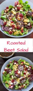 Roasted Beet Salad with Honey Balsamic Vinaigrette. A flavorful and healthy salad that is anything but boring!