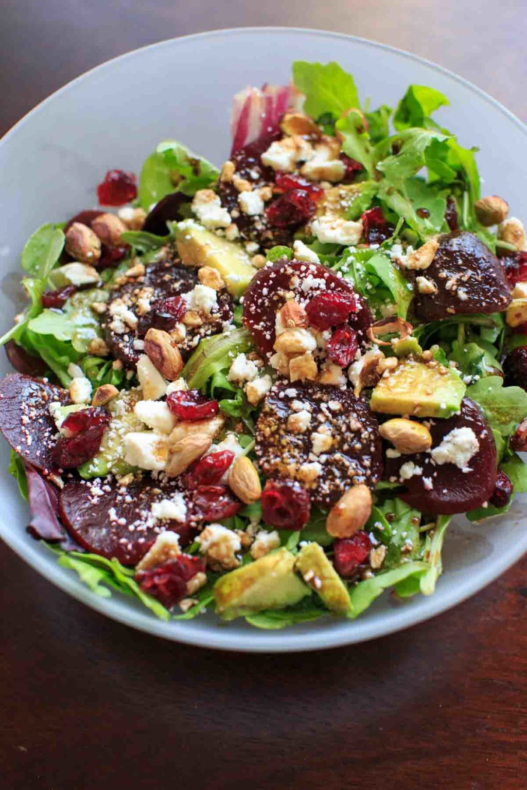 Roasted Beet Salad with Honey Balsamic Vinaigrette