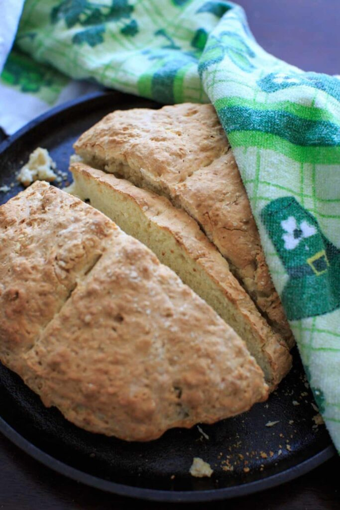 Traditional Irish Soda Bread recipe. Includes options for sweet and savory add-ins.