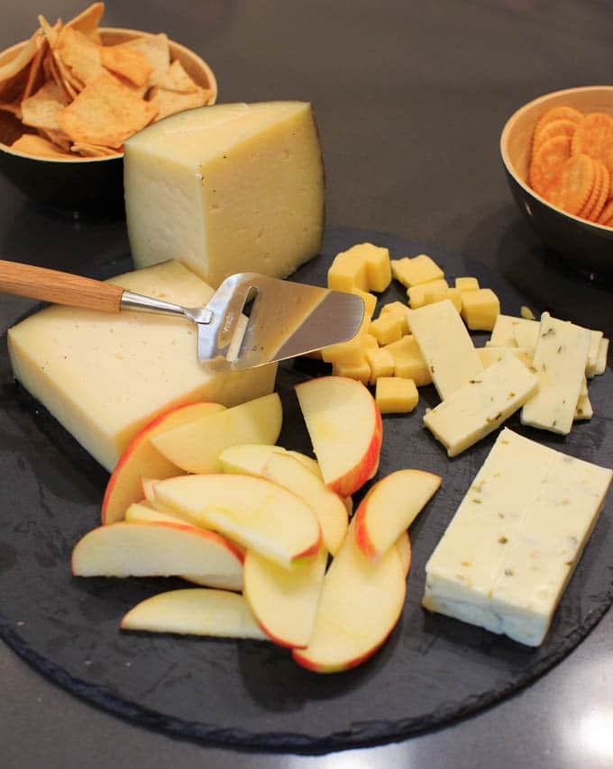 Dinner Party: How to make your own pasta from scratch. Cheese plate.