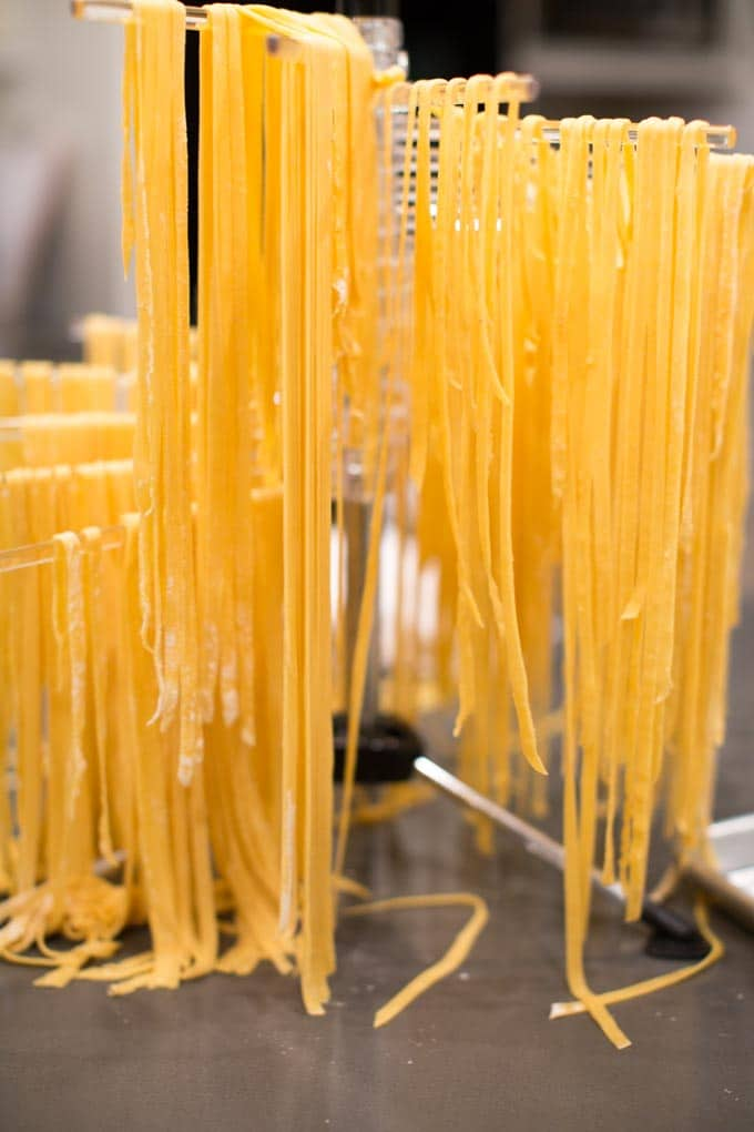 Dinner Party: How to make your own pasta from scratch. Drying the noodles.
